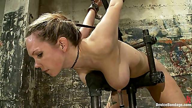 Hot BDSM video with Rain DeGrey getting toyed