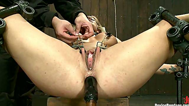 Amazing Holly Heart gets tortured and toyed in the ass