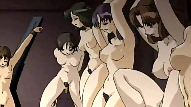 Anime slut moans crazily while getting her boobs kneaded