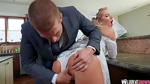Slutty bride, Candice Dare is cheating right before the wedding ceremony