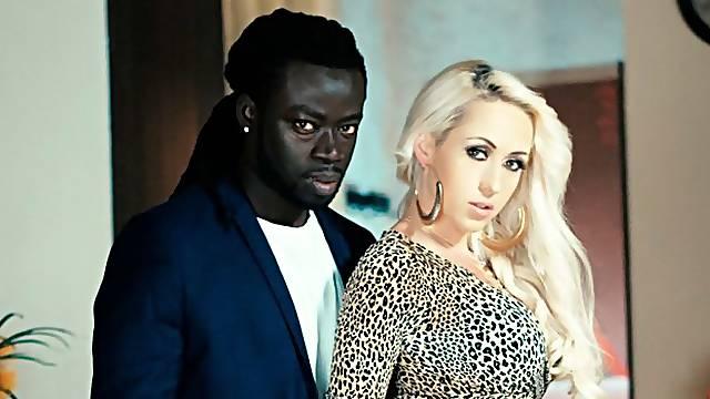 Big black lover is having fun with a white angel Christina Shine