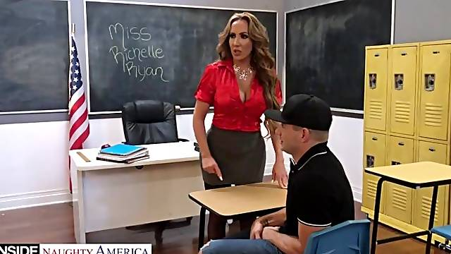 Gorgeous classroom sex with Katie Monroe, Richelle Ryan and Riley Steele