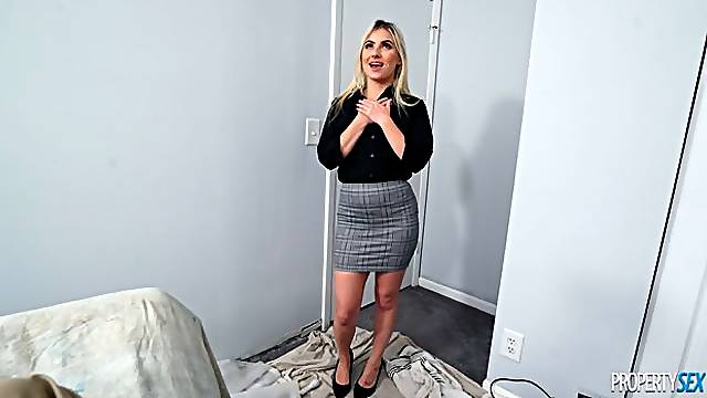 Cute blonde with small tits Aria Banks fucked in POV angel