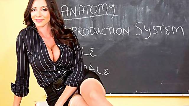 Sensual busty brunette Ariella Ferrera screwed by a large penis
