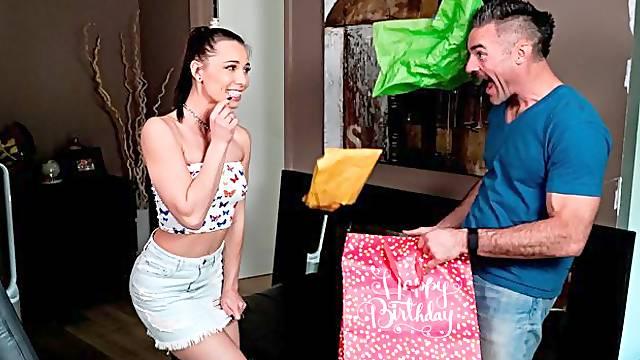 Hot long-legged model Aidra Fox opens her wet hole for a big cock