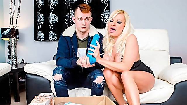 Lusty blonde babe with big boobs Michelle Thorne fucked for money