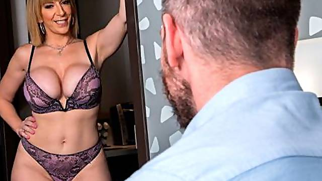 Cute busty model Sara Jay gets nicely fucked by a long white penis