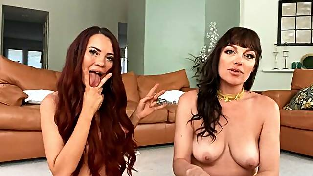 Spicy lesbians Sovereign Syre and Sabina Rouge fuck on the floor