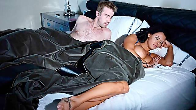 Glamorous model with long legs Peta Jensen screwed in the office