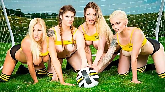 Lucia Love, Tamara Grace and Mila Milan fuck with a coach