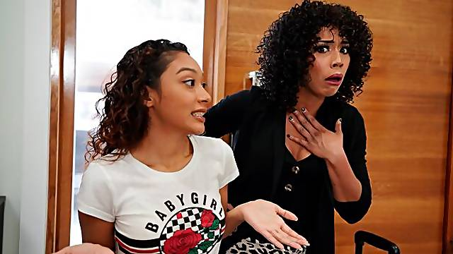 Interracial POV fucking with Sarah Lace and Misty Stone