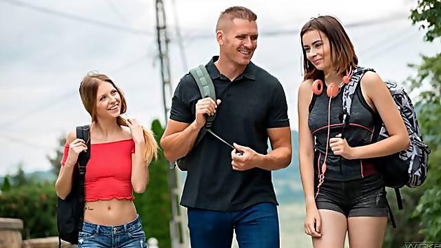 FFM porn with two babes Rebecca Volpetti and Viktoria J