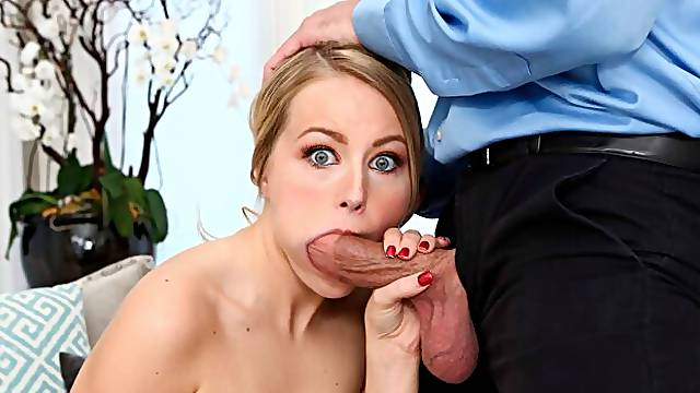 Small-tit blonde Scarlett Sage likes intensive anal sex