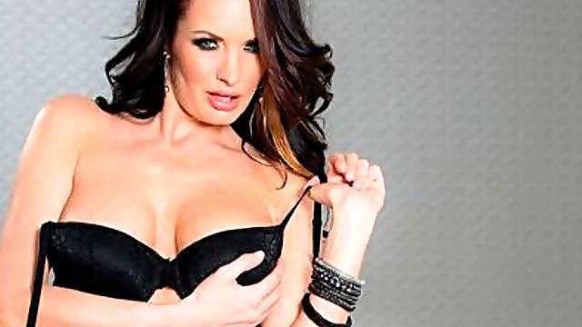 Busty brunette Alektra Blue is enjoying hardcore anal sex