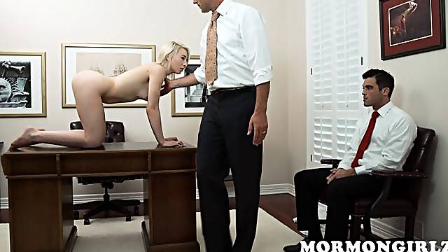 Adorable blonde with small tits Trillium opens her little pussy