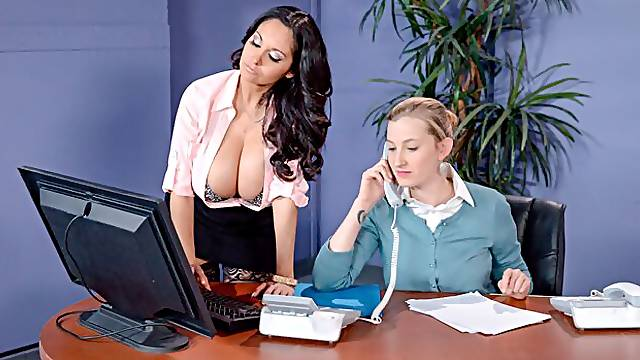 Beautiful ladies Ava Addams and Riley Jenner are getting fucked