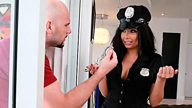 Beautiful ebony model Aaliyah Hadid fucks with a big white penis