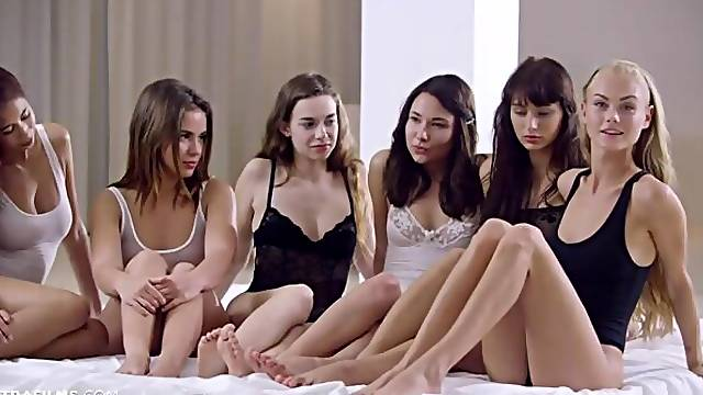 Paula Shy, Nancy Ace and Yarina A are getting pleasure from lesbian games