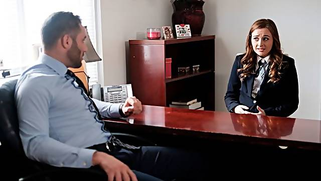 Small-tit angel Danni Rivers screwed good by her own boss