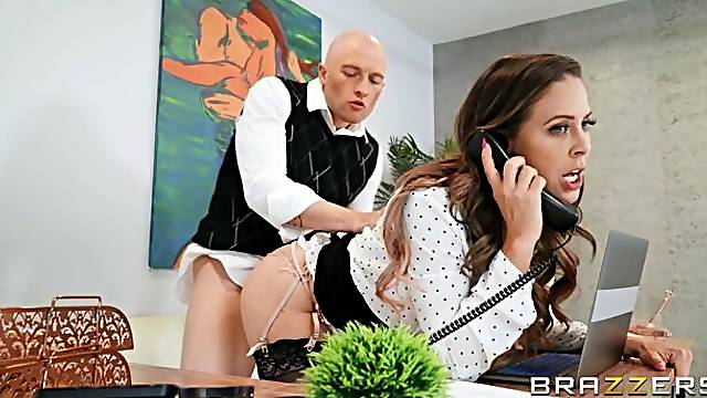 Sensual leggy model Cherie Deville demonstrates her skills for a lover