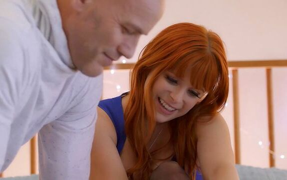 Adorable redhead in stockings Penny Pax screwed by a long penis