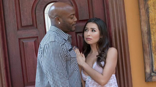 Passionate brunette Melissa Moore is feeling a large black cock