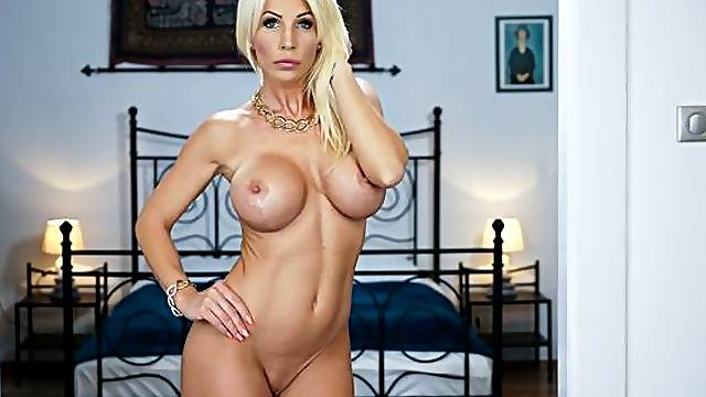 Busty MILF Tiffany Rousso is enjoying intensive sex with a young masseur