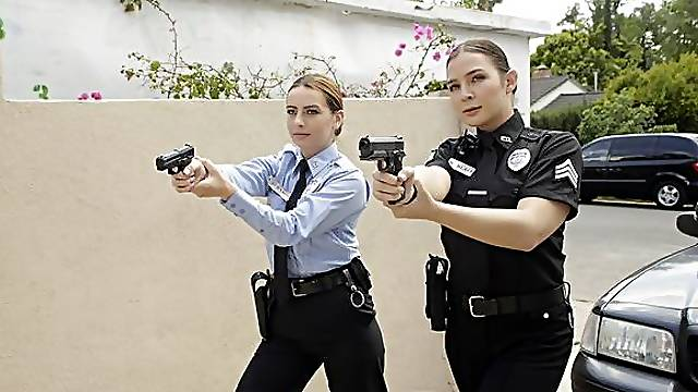 Officer Scarlet and Sergeant Blair are responding to a burglary call. When they reach the address, they find the door open so they head inside to secure the scene