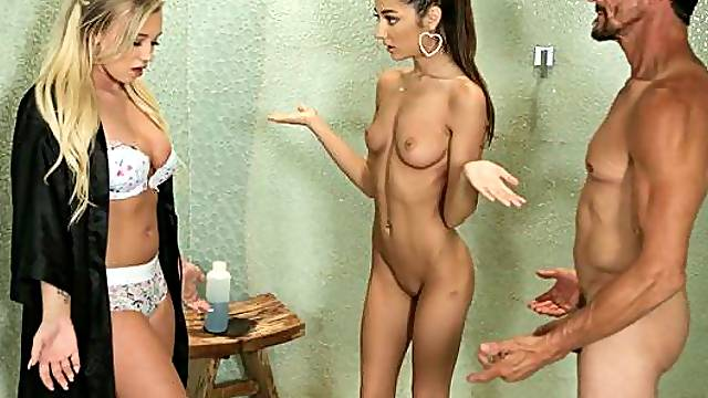 Masseuse Lily Adams is helping her newest trainee Bailey Brookesettle in