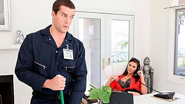 Bella Gets The Janitor To Clean Up Her Ass