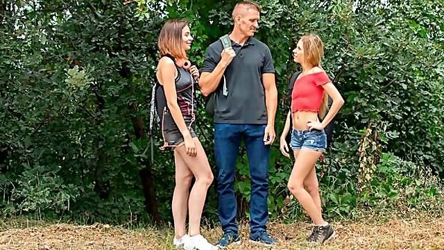 Surprise Hiking Threesome
