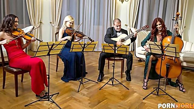 String Quartet Hard at Work and XXX Play GP1688