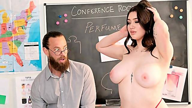 Alyx Star becomes her boss muse and fuck toy