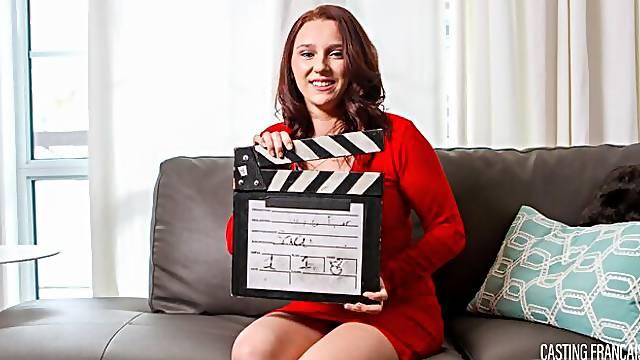 First porn shooting for shy cute newbie