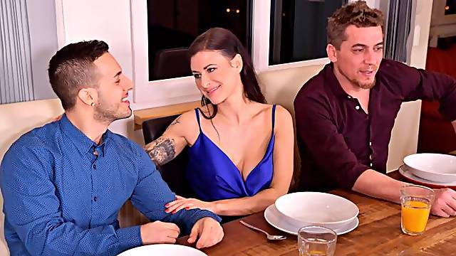 Lonely Single Stud Turns Dinner Party into Swingers Night with His Friends GP1738