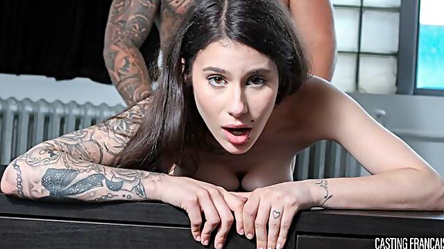 French Canadian amateur Yasmine Diaz gets her pussy glazed in audition