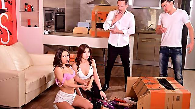 Lana Roy Trades Strap on for DP with New Neighbors GP1902