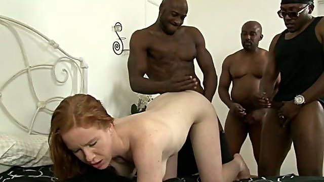 Cock crazed white chick with small breasts loves big black cocks
