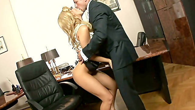 Effortlessly seductive secretary gets her asshole fucked hard and deep
