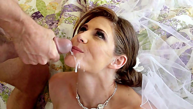 Sexy bride Jenni Lee is fucked hard by Johnny Sins before wedding ceremony