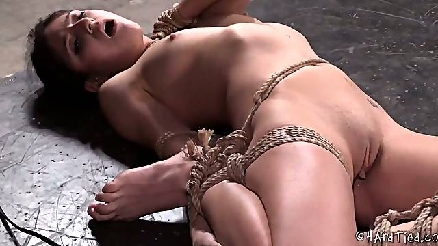 Flexible bitch Nikki Knightly is fucked hard in the torture room