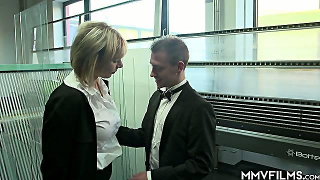 Kinky dude fucks busty blond chick Farah hidden cam video