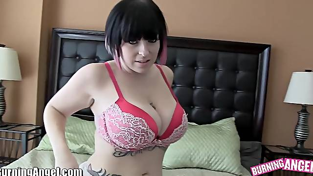 PAWG emo chick Axis Evol is fucked hard in anus and mouth