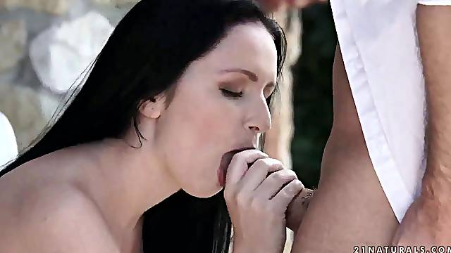 Hungarian babe Kittina Ivory takes hard cock in tight anal hole