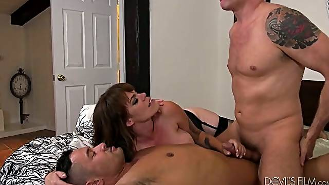 Supercharged with lust for her bisexual friend Gia Paloma is ready for a 3some