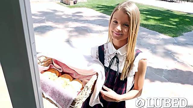 Cute girl scout Asuna Fox sells cookies and fucks like no other