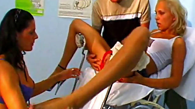 Gyno checkup turns into hardcore anal workout for poor blondie