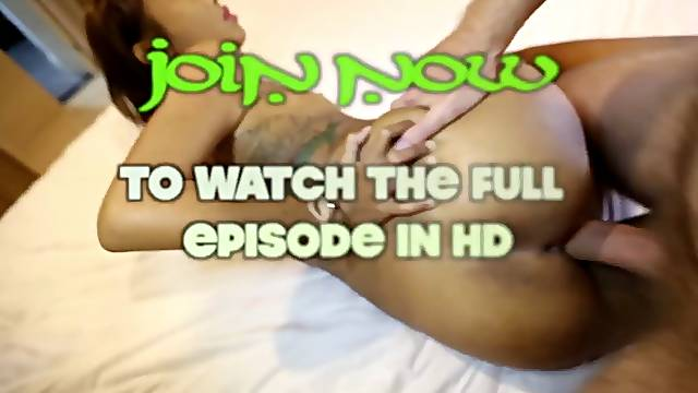 Beautiful stunning Thai babe gets her hairless slit and phat ass pounded