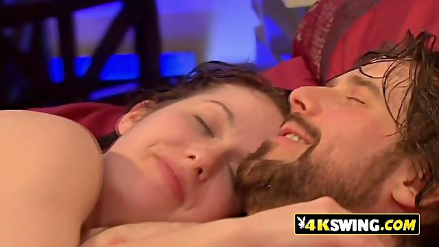 Horny couples get excited for entering at a reality tv show that organizes a massive orgy