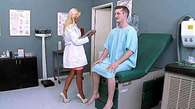 Full doctor exam along busty milf, Nina Elle